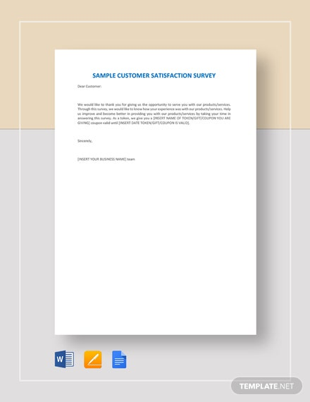 Sample Customer Satisfaction Survey Template