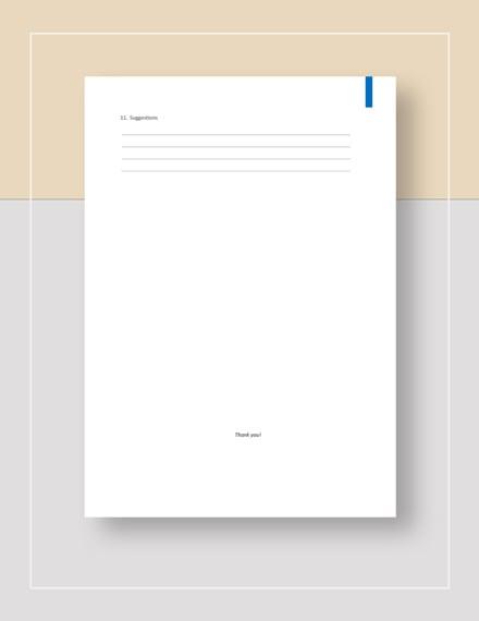 Simple Sample Customer Satisfaction Survey