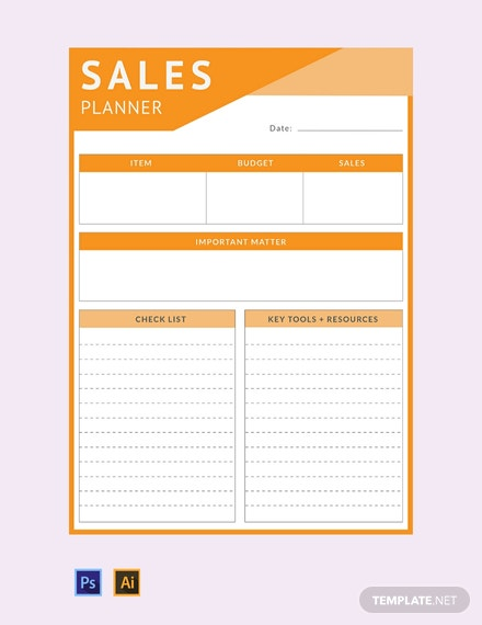 Free Sales Planner Template