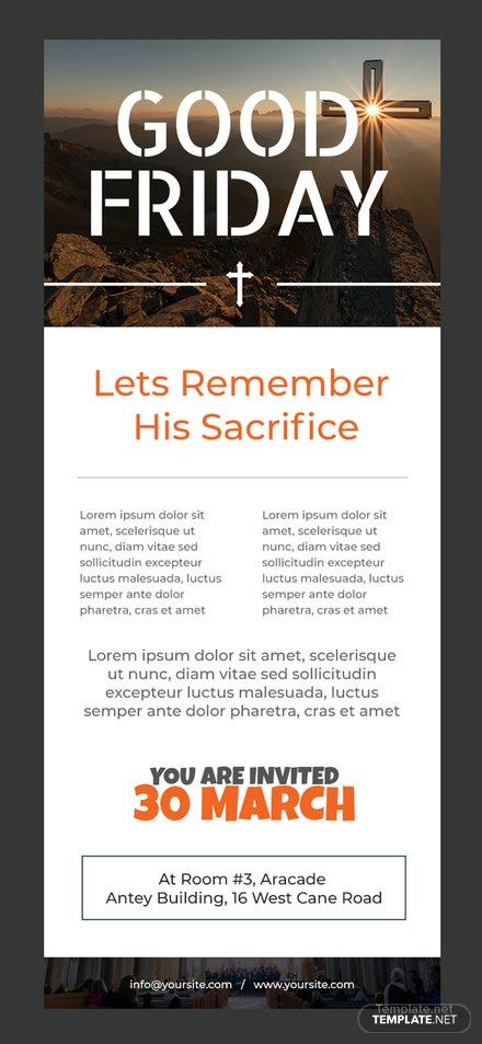 Free Good Friday Email Newsletter Template