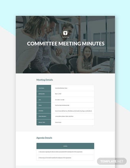 Sample Committee Meeting Minutes Template