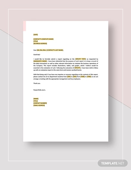 Formal Report Template