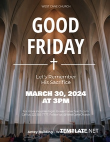 Free Good Friday Flyer Template