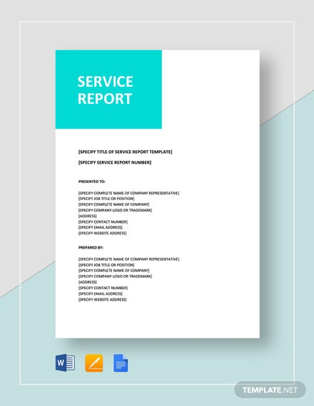 Service Report Template