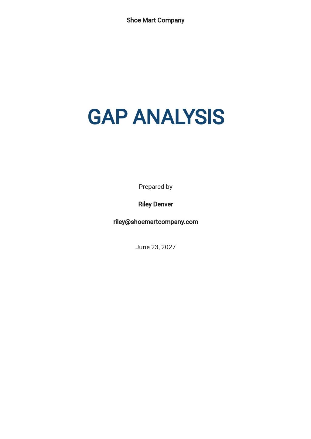 Sample Gap Analysis Report Template