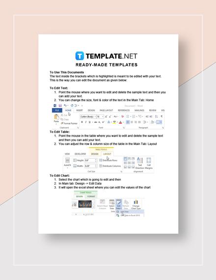 Sales Activity Report  Instructions