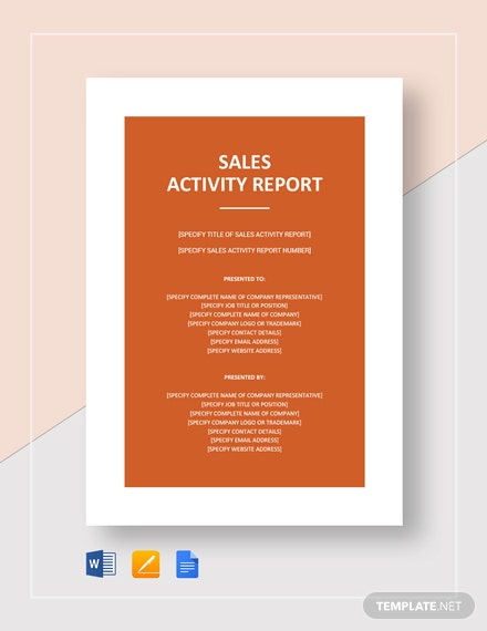 sales activity report