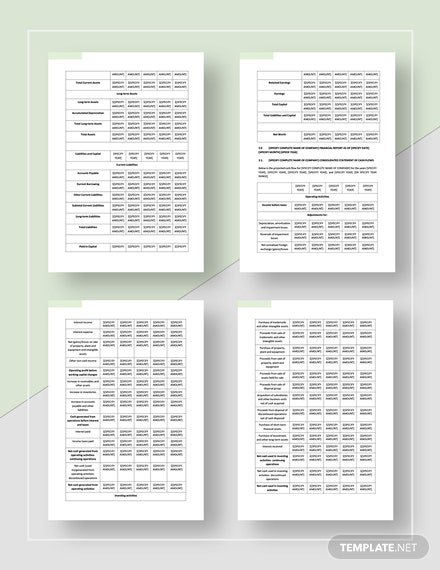 Basic Sample Financial Report