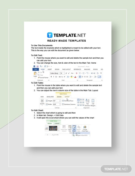 Sample Financial Report  Instructions