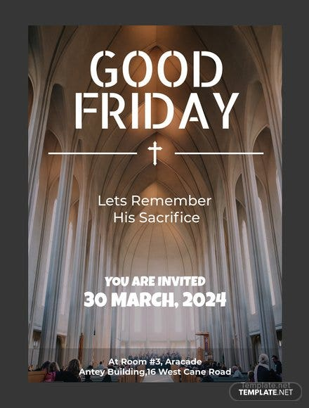 Free Good Friday Invitation Template