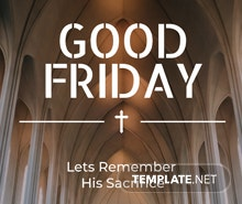 Free Good Friday Invitation Template