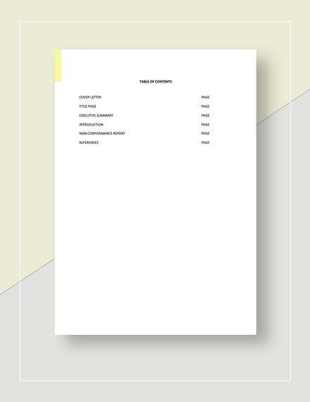 Non Conformance Report Download