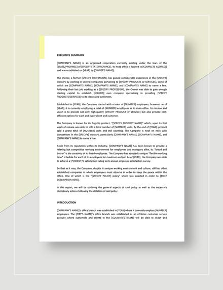 Sample Non Conformance Report