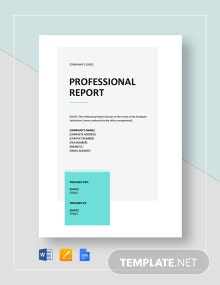 Professional Report Template