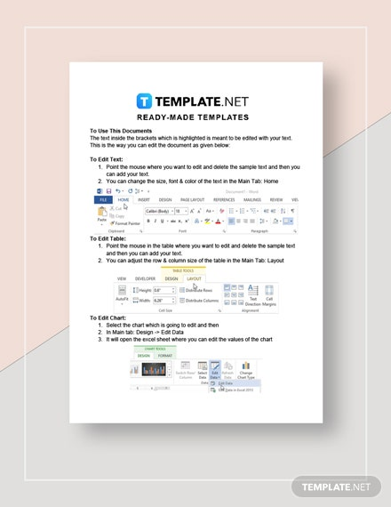 Simple Expense Report Instructions