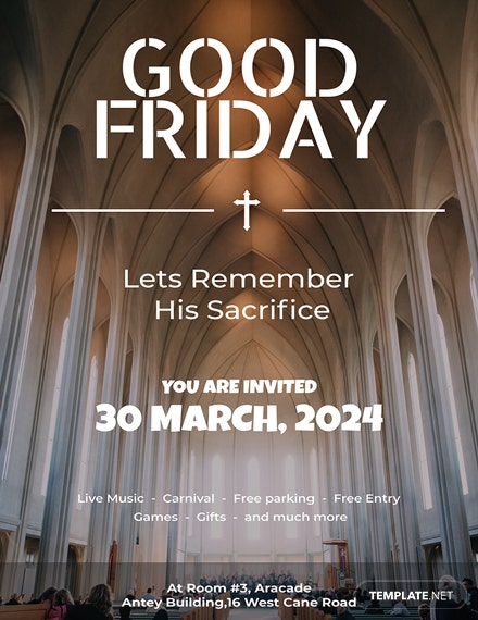 free a4 good friday poster template  download 265  posters