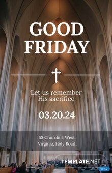 Free A4 Good Friday Poster Template