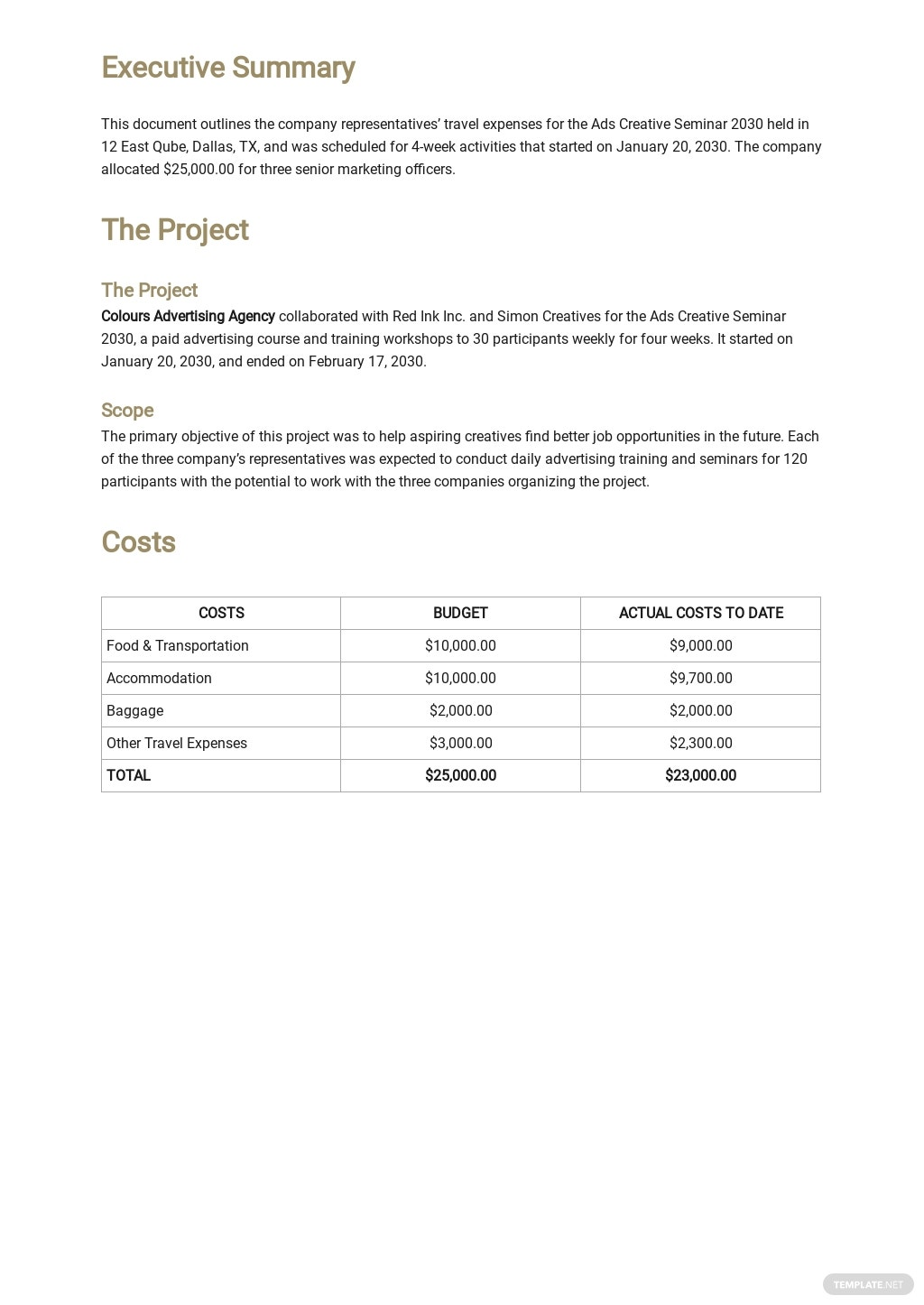 Simple Travel Expense Report Template 1.jpe