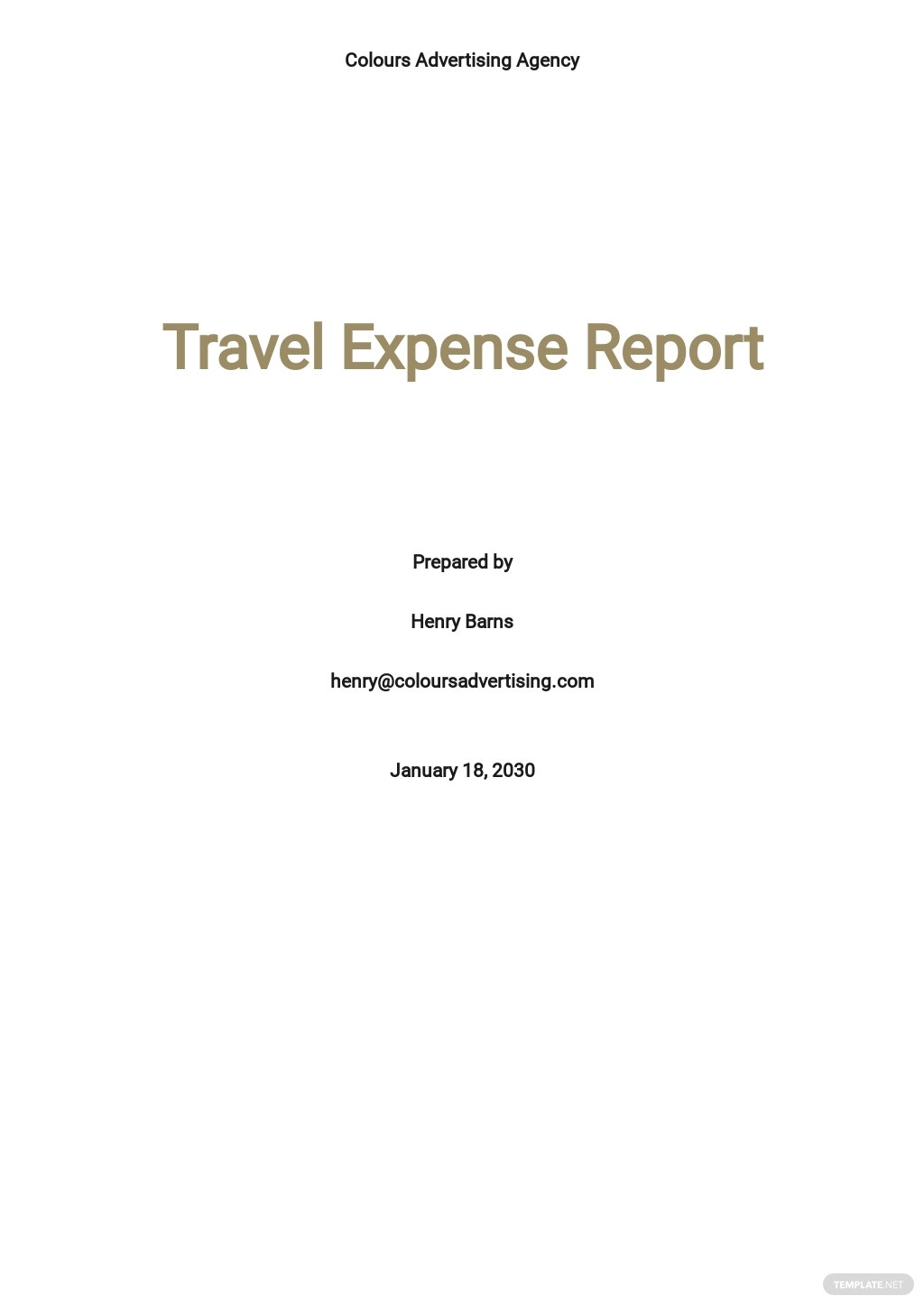 Simple Travel Expense Report Template.jpe