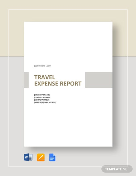 Simple Travel Expense Report Template