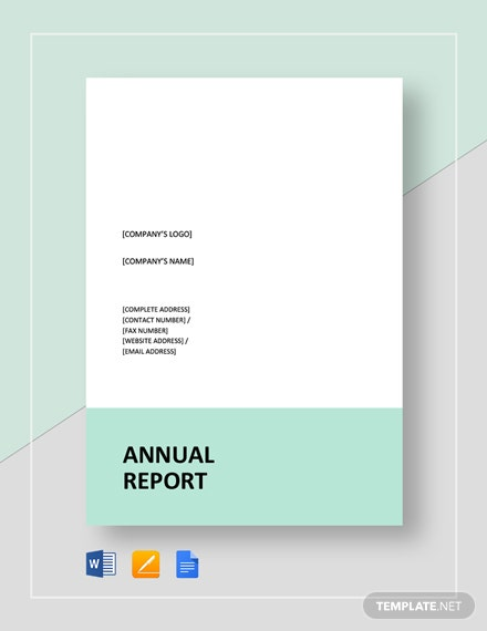 Simple Annual Report Template