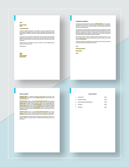 Short Business Report  Sample Template