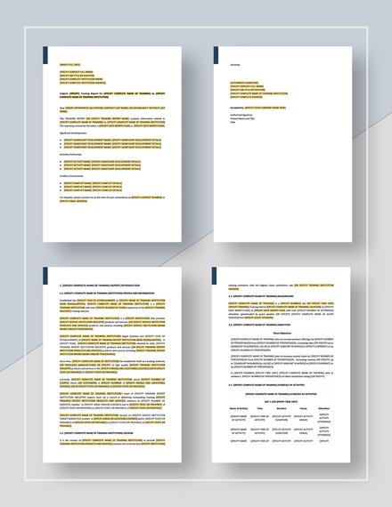 Training Report Download
