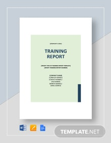 Training Report Template