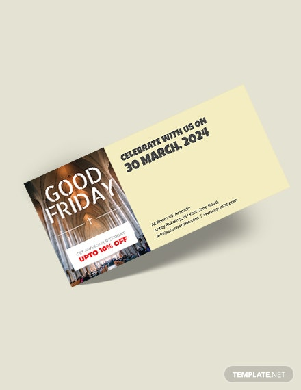 Free Good Friday Voucher Template