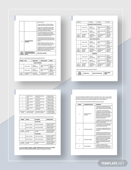 Simple Project Management Report  Download