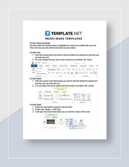 Simple Project Management Report  Instructions