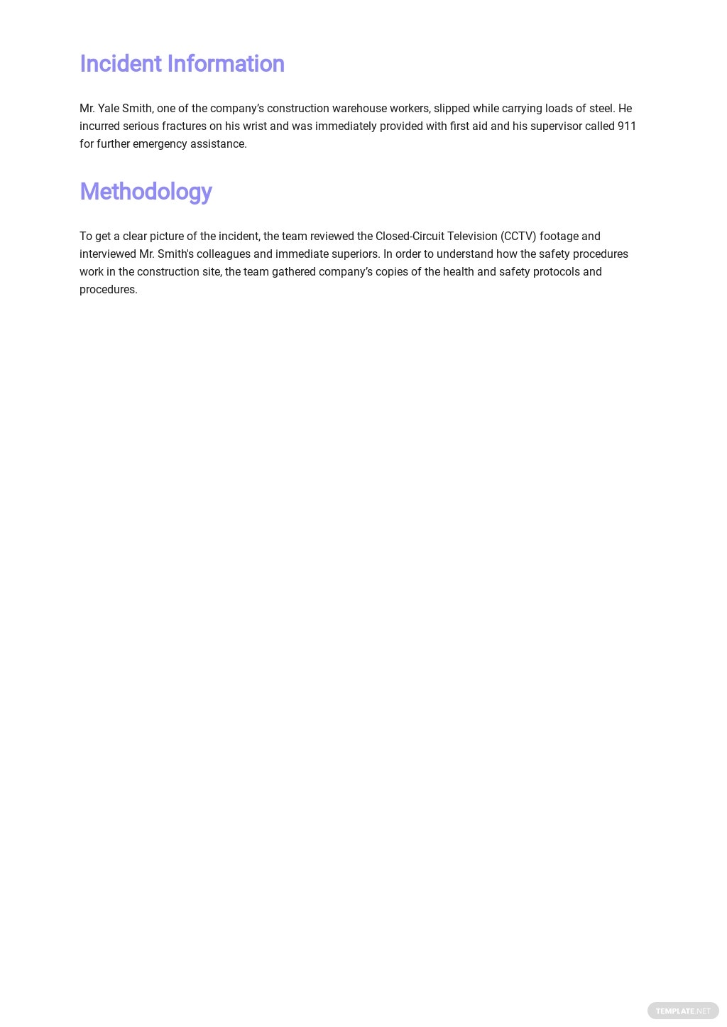 Workplace Investigation Report Template [Free PDF] - Google Docs, Word
