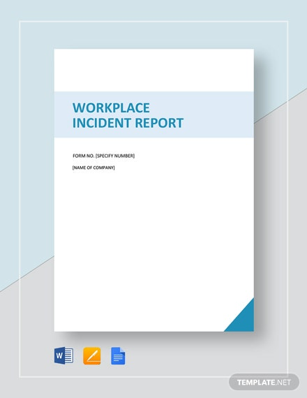 workplace incident report