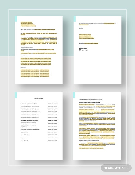 Year End Report Template