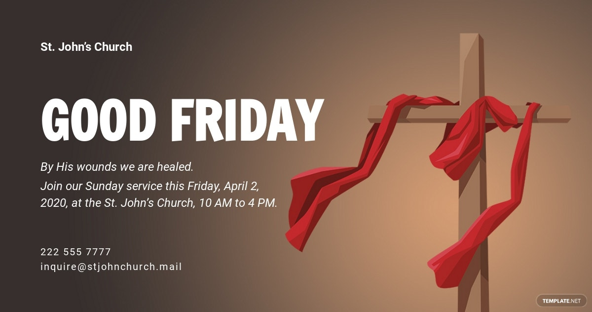 Free Good Friday Facebook Post Template.jpe