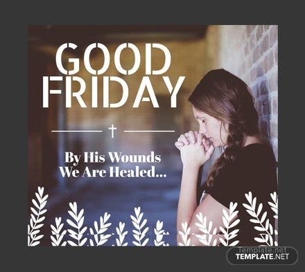 Free Good Friday Facebook Post Template