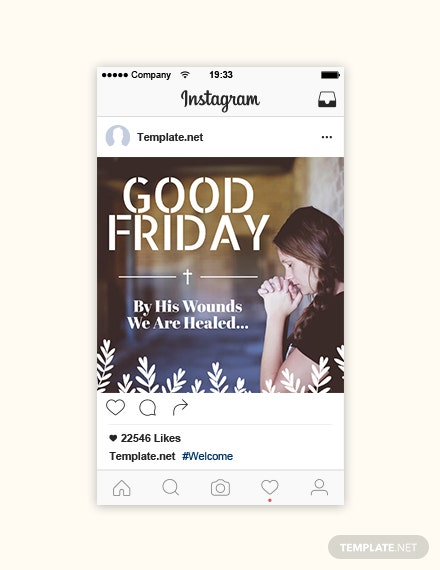 Free Good Friday Instagram Post Template