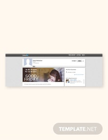 Free Good Friday Linkedin Blog Post Template