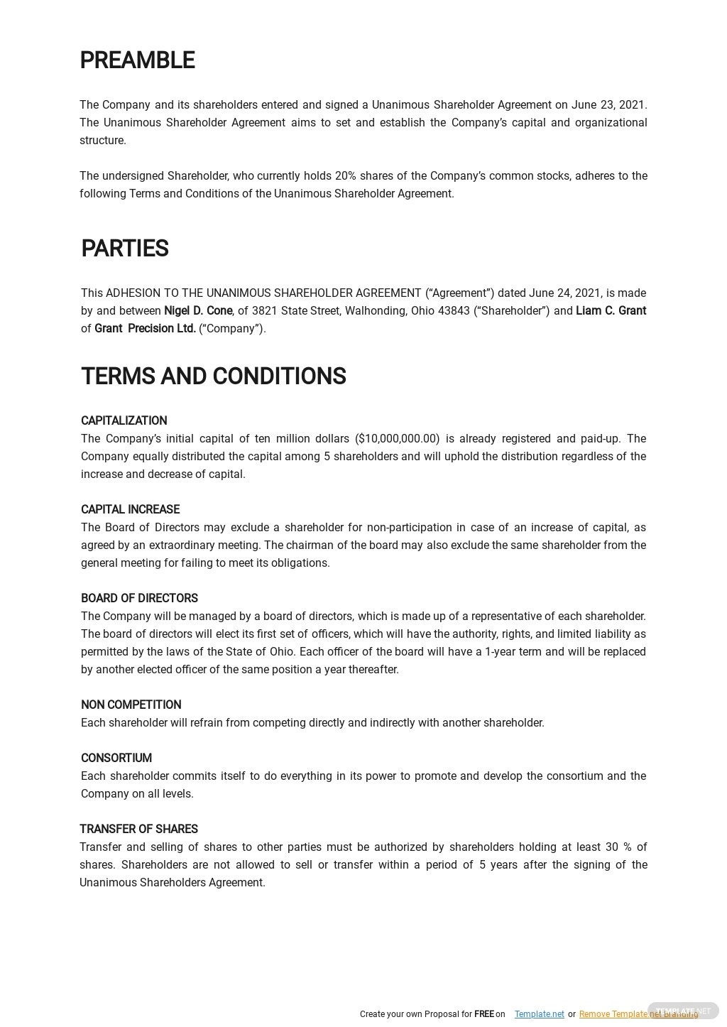 Adhesion to the Unanimous Shareholder Agreement Template 1.jpe