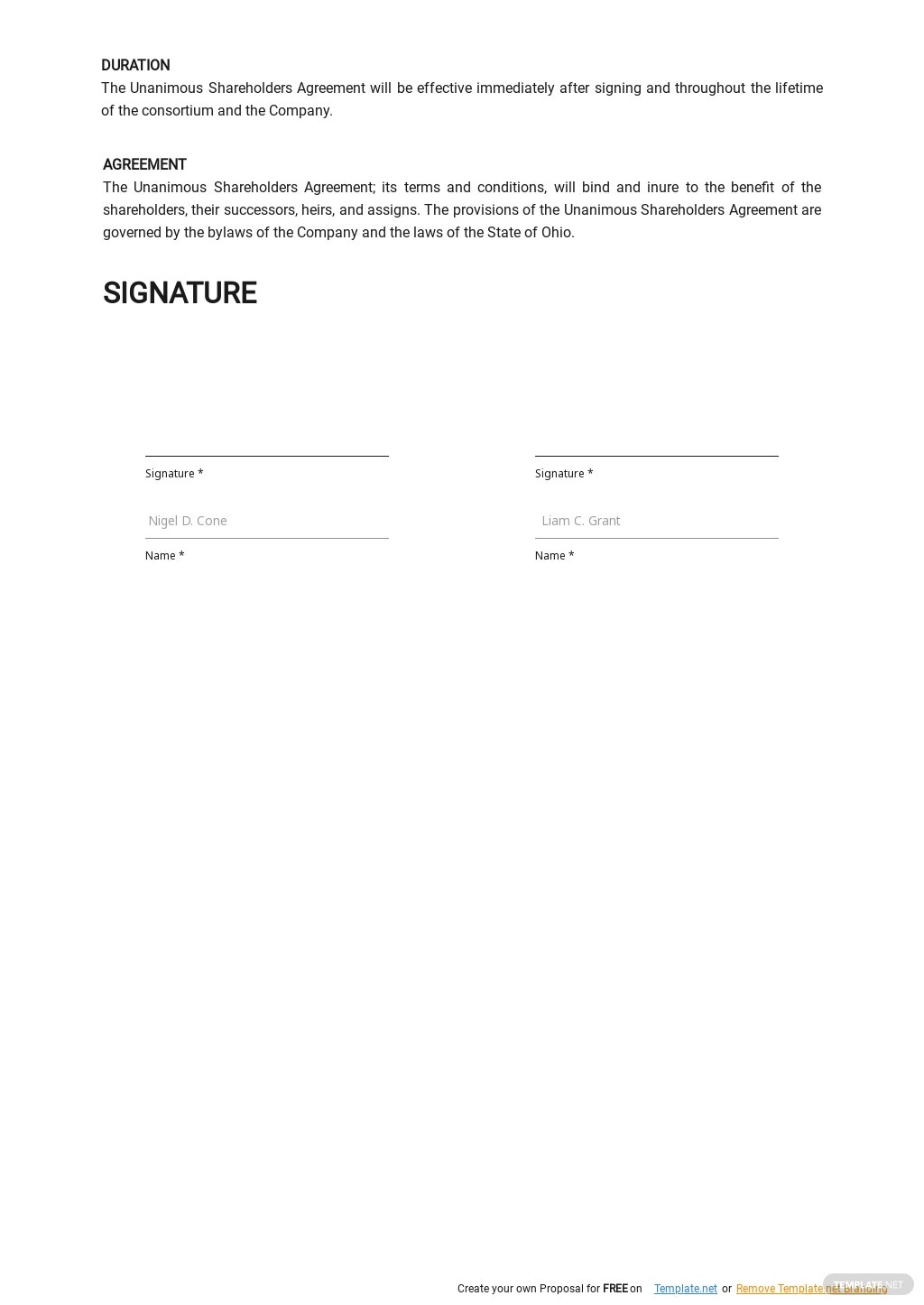 Adhesion to the Unanimous Shareholder Agreement Template 2.jpe