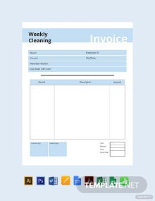 Free Commercial Cleaning Invoice Template