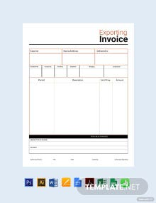 Free Commercial Export Invoice Template