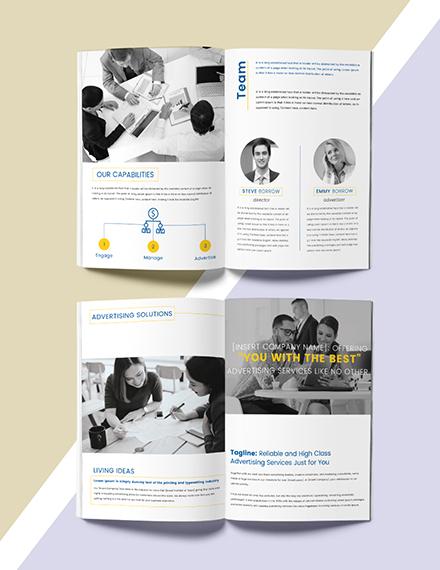Advertising Catalog Design Template