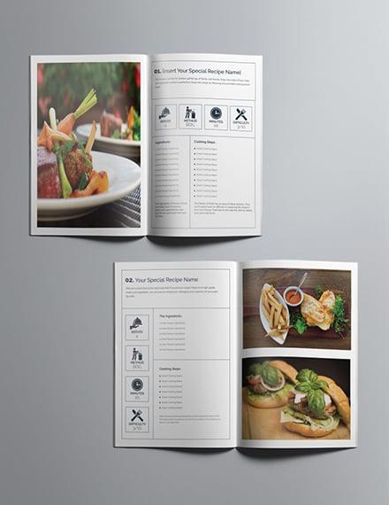 Printable Cookbook Catalog Design