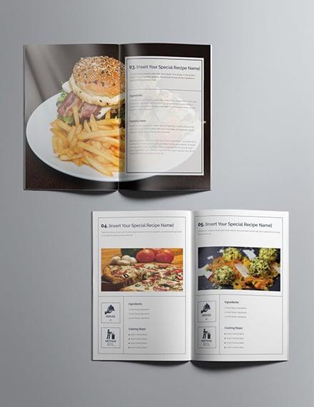 Printable Cookbook Catalog Design Template