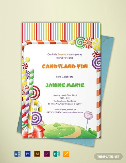 free candyland birthday invitation template 440x570 1