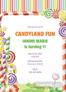 Free Candyland Birthday Invitation Template