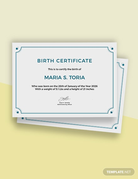 Free Blank Birth Certificate Template