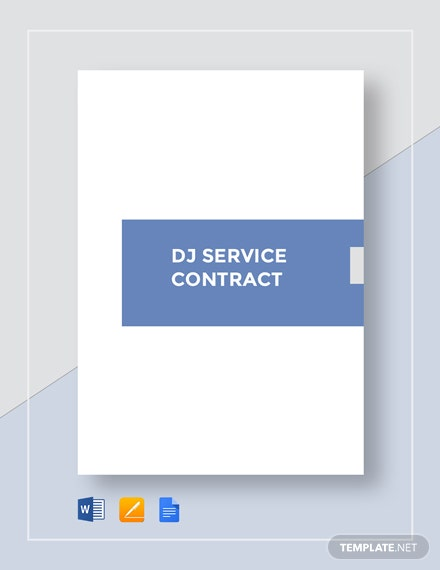 DJ Service Contract Template