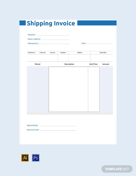 FREE Commercial Shipping Invoice Template - PDF | Word